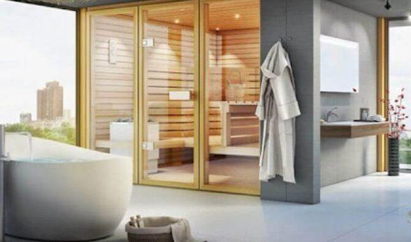 Phòng tắm xông hơi diện tích lớn