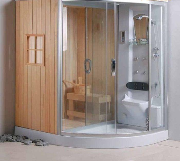 Phòng tắm xông hơi ướt có kết hợp phòng tắm