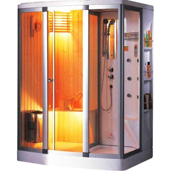 Phòng tắm xông hơi khô sử dụng tia hồng ngoại hoặc đá khô để tăng nhiệt độ