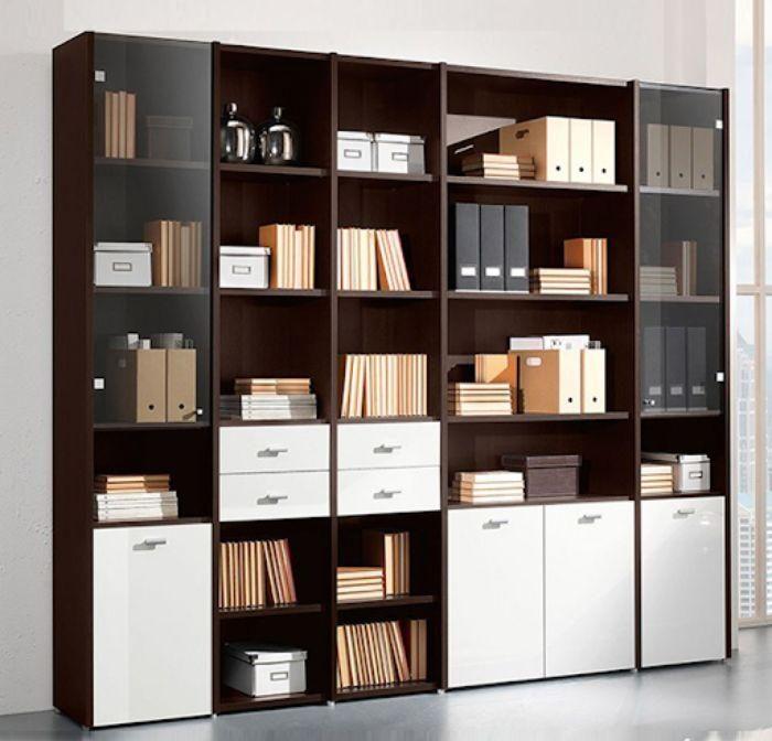 Mẫu tủ sách nhôm kính trang trọng cho văn phòng