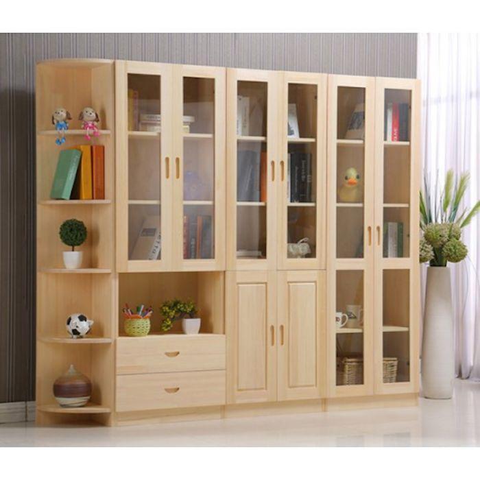 Tủ sách nhôm kính có thiết kế đơn giản với kích thước lớn cho văn phòng
