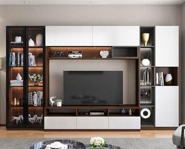 Tủ tivi nhôm kính giúp khách hàng dễ dàng lau chùi hơn