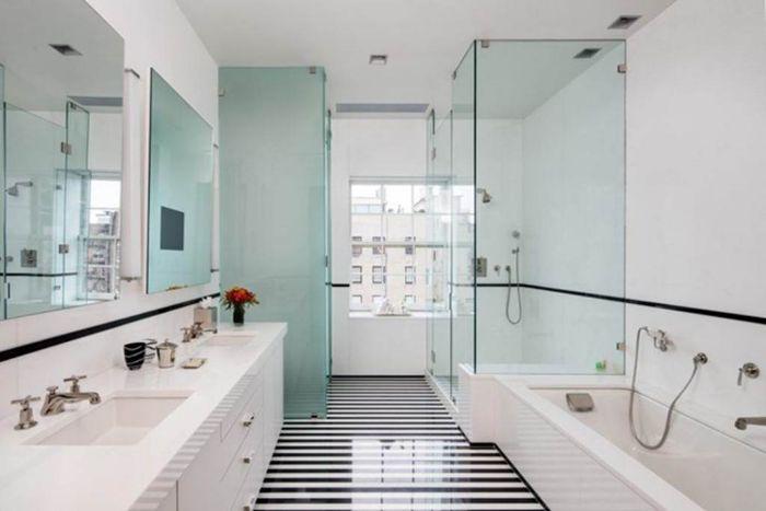 Mẫu vách kính mờ phòng tắm
