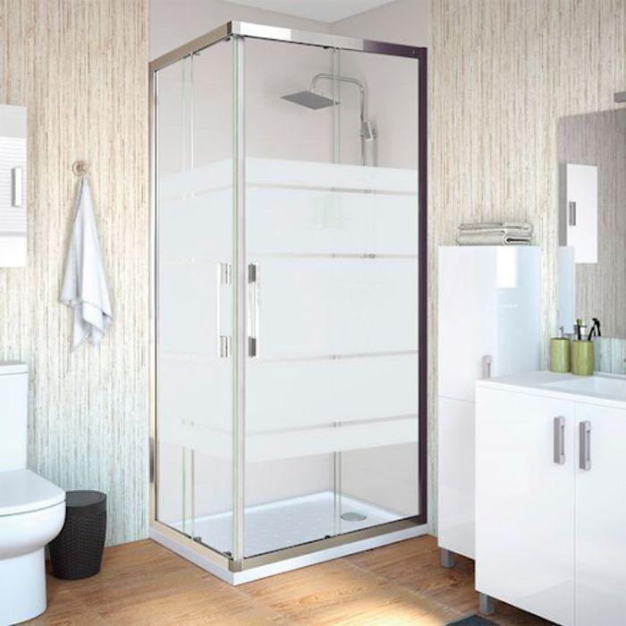 Vách kính mờ phòng tắm có thiết kế tinh tế