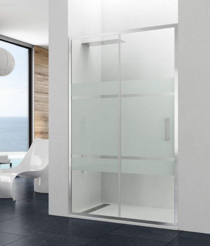 Vách kính mờ phòng tắm có màu trắng