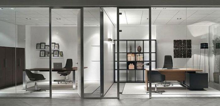 Vách ngăn nhôm kính xingfa tạo không gian làm việc và phòng họp riêng