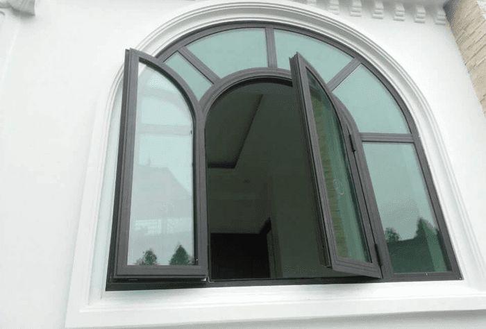Cửa nhôm Xingfa 55 dạng mái vòm cổ điển