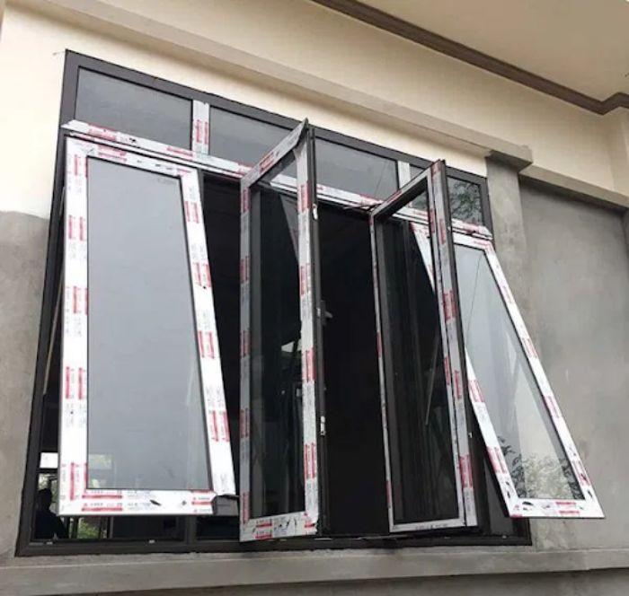 Cửa sổ 4 cánh nhôm Xingfa đẹp và độc đáo