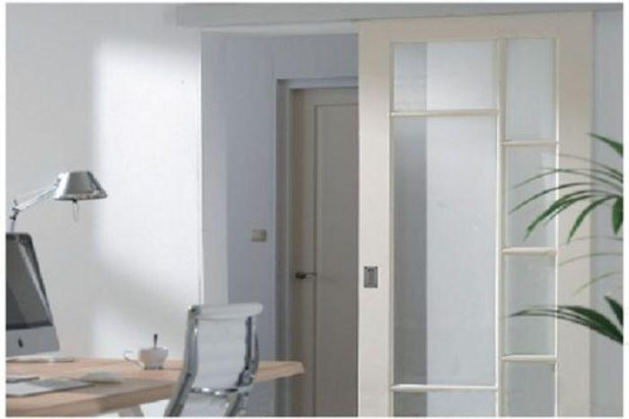 Cửa lùa nhôm kính 1 cánh phòng ngủ