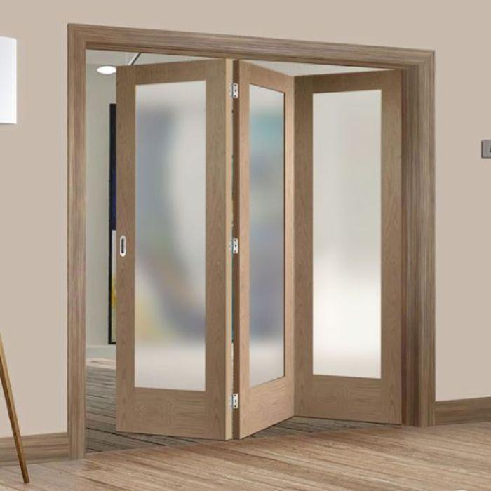 Cửa phòng ngủ giả gỗ chất liệu nhôm kính cho phòng ngủ