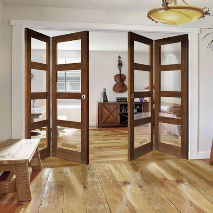 Cửa nhôm kính giả gỗ mang lại sự ấm cúng cho căn phòng ngủ của bạn