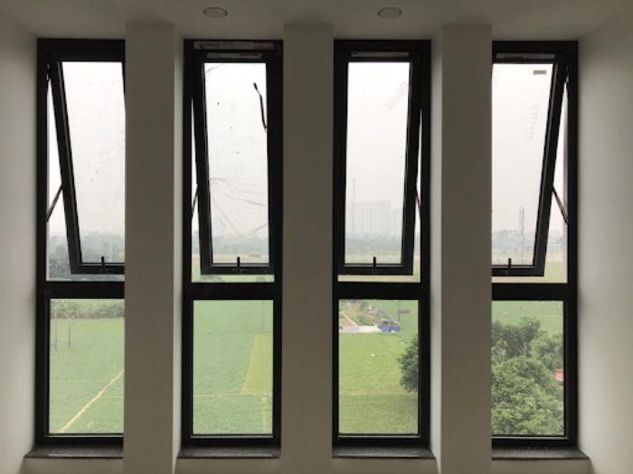 Cửa sổ nhôm kính Xingfa mở lật