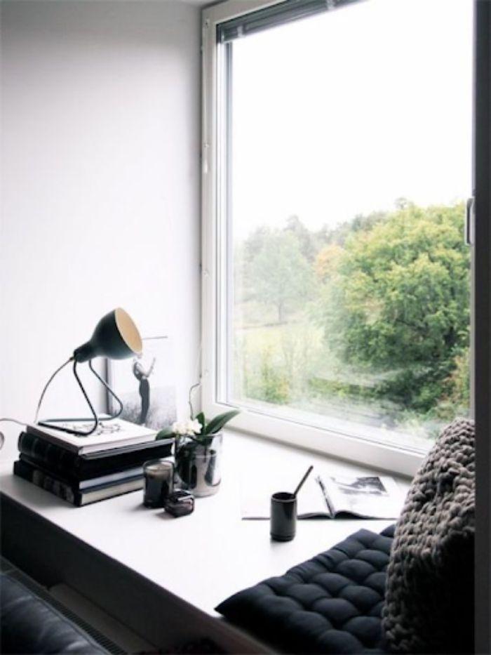 Cửa sổ nhôm kính 1 cánh màu trắng