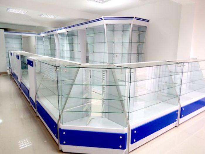 Mẫu tủ nhôm kính đựng thuốc thiết kế độc đáo